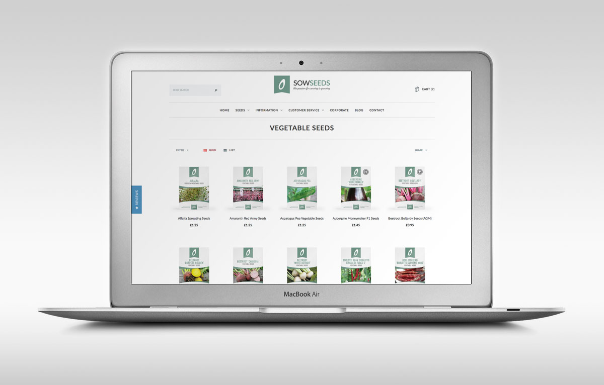 Sow Seeds eCommerce Website