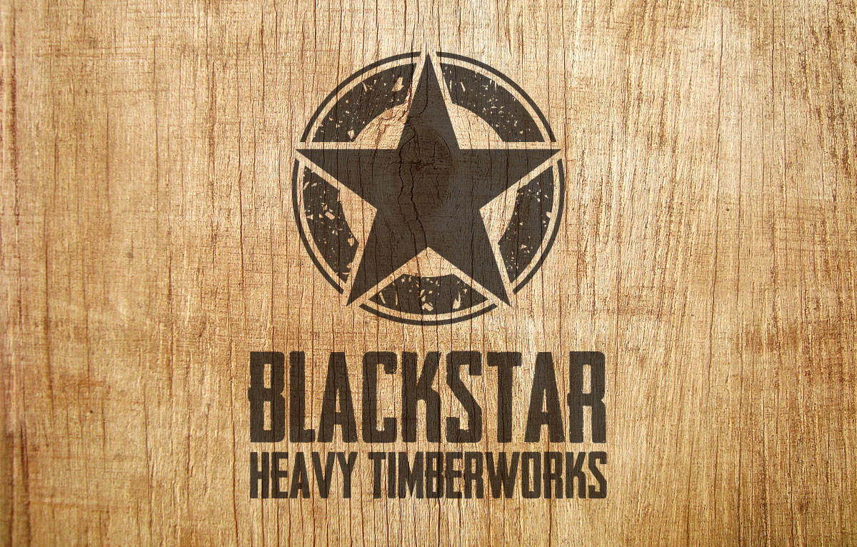 Blackstar Timber Logo Design