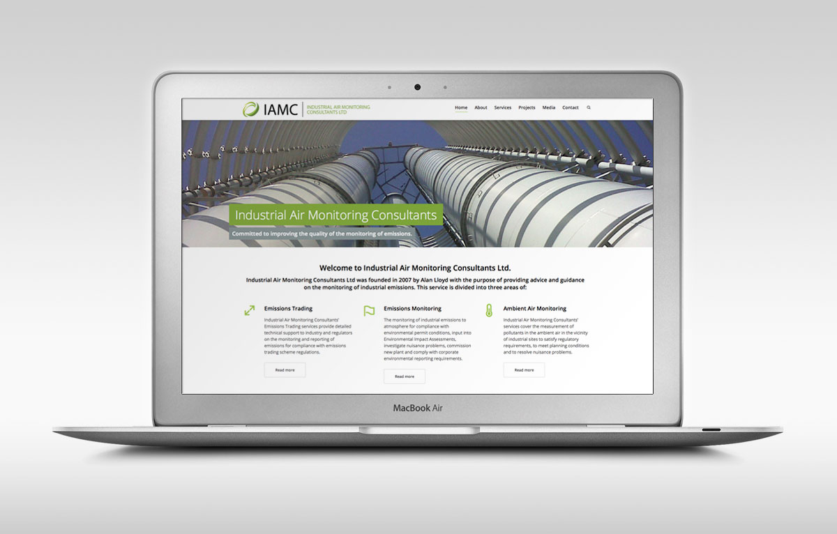 Industrial Air Monitoring Website