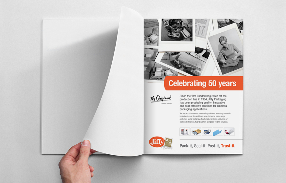 Jiffy Packaging '50 Years' Adverts
