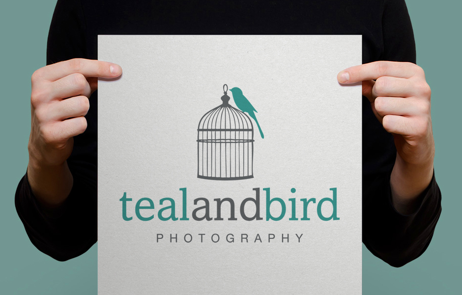 Teal and Bird Logo Design