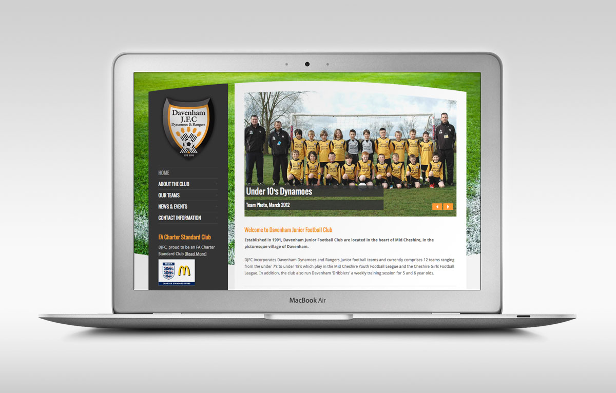 Davenham Junior FC Website