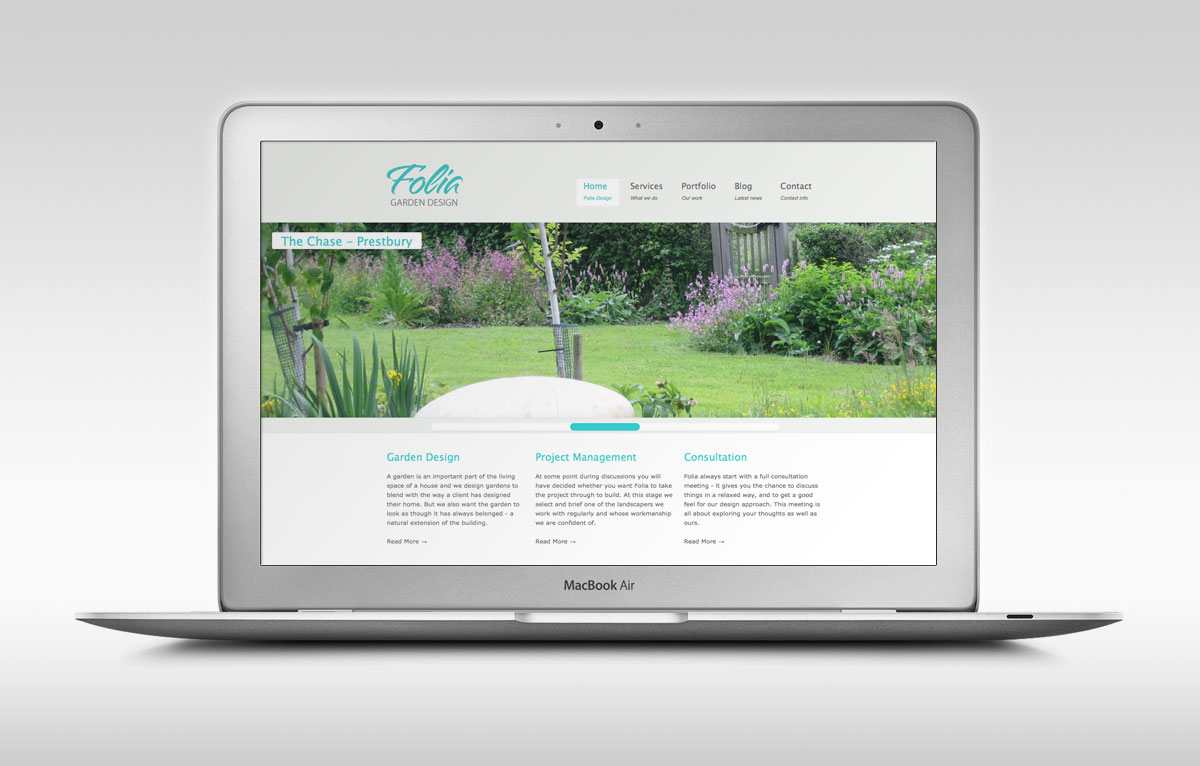Folia Garden Design Website