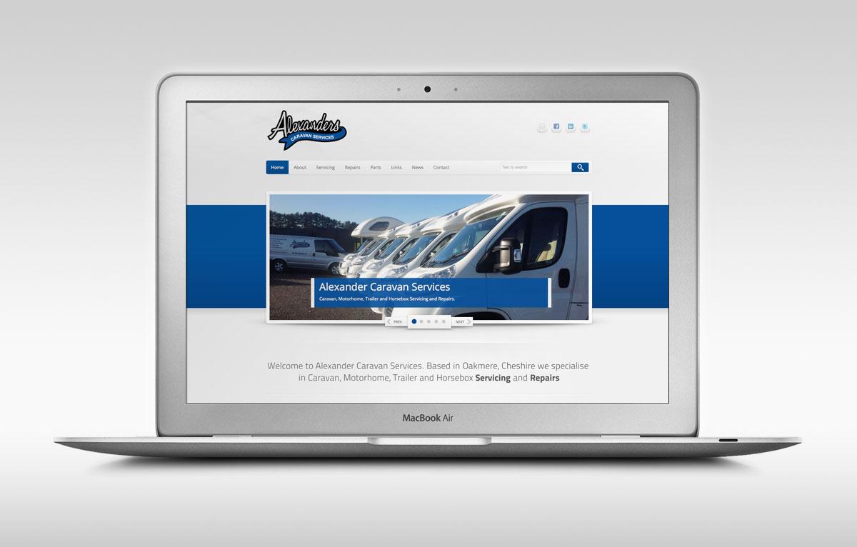 Alexander Caravan Services Website