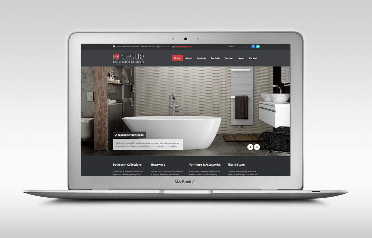 Castle Tile & Bathroom Studio Website