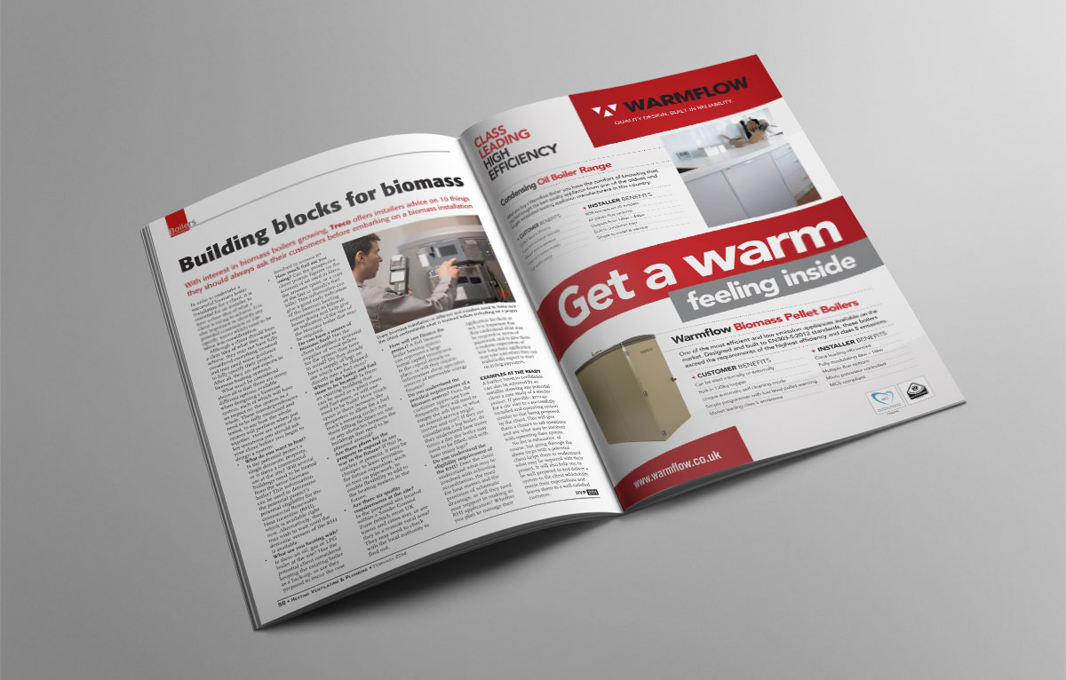 Warmflow Magazine Adverts
