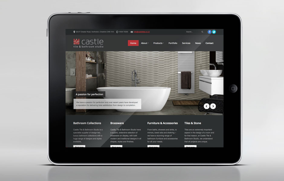 Castle Tile & Bathroom Studio Website