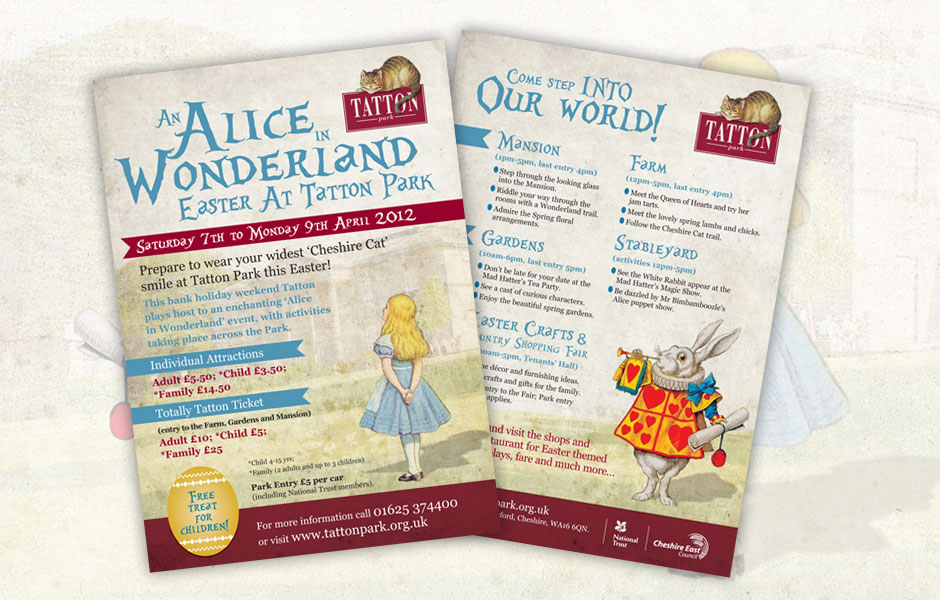 Tatton Park Easter Events Leaflets